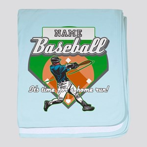 Personalized Home Run Time baby blanket