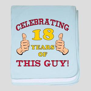 Funny 18th Birthday For Boys baby blanket