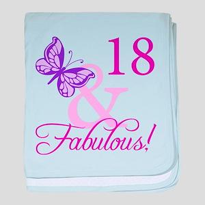 Fabulous 18th Birthday For Girls baby blanket