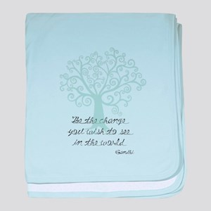 Be the Change Tree baby blanket