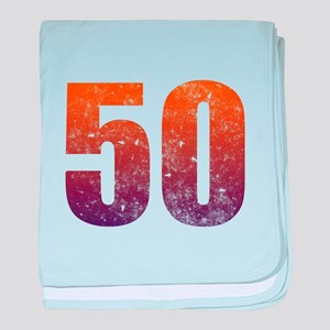 Cool 50th Birthday baby blanket