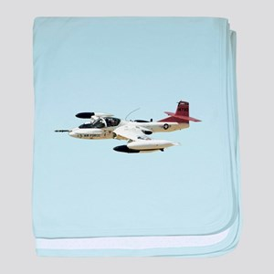 A-37 Dragonfly Aircraft baby blanket