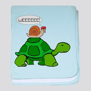 Snail on Turtle baby blanket