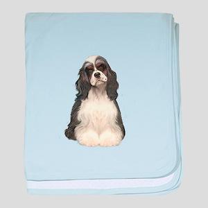 Cocker (parti) baby blanket