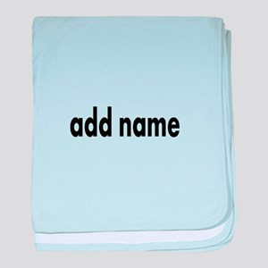 Add Text Font Modern baby blanket
