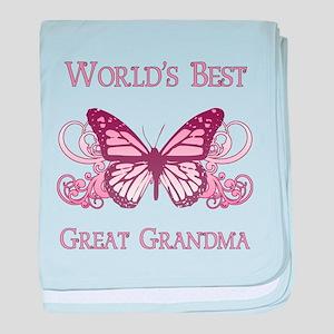 World's Best Great Grandma (Butterfly) baby blanke