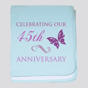 45th Wedding Aniversary (Butterfly) baby blanket
