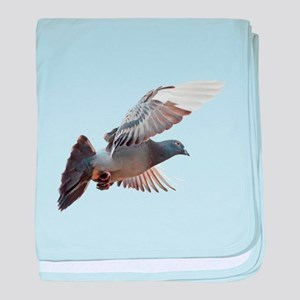 pigeon fly to love joy peace baby blanket