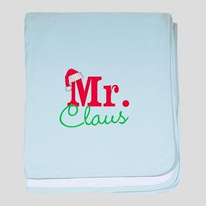 Christmas Mr Personalizable baby blanket