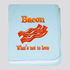 Bacon to Love baby blanket