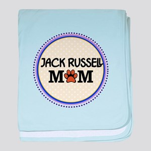 Jack Russell Dog Mom baby blanket