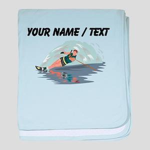 Custom Water Skiing baby blanket