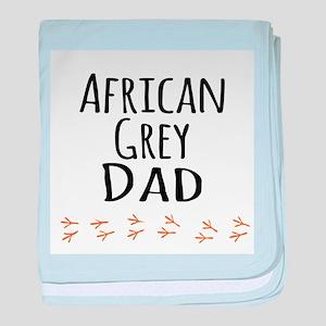 African Grey Dad baby blanket