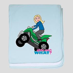 ATV Woman Blonde baby blanket