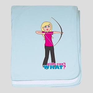 Archery Girl Light/Blonde baby blanket