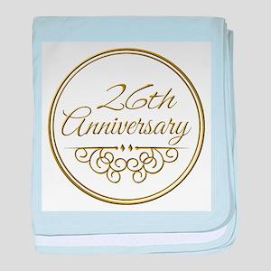 26th Anniversary baby blanket