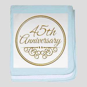 45th Anniversary baby blanket