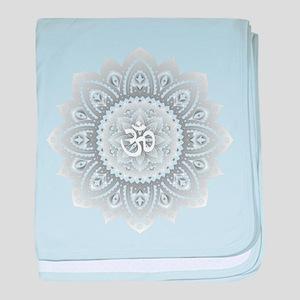Yoga Mandala Henna Ornate Ohm Crown Black baby bla