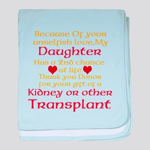 Personalize Transplant Donor Thank You baby blanke