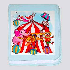 The Circus is in Town baby blanket