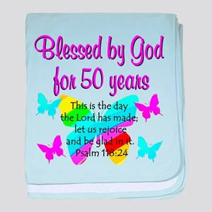 DELIGHTFUL 50TH baby blanket