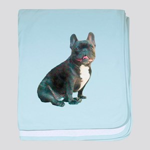 French Bulldog (blk)1 baby blanket
