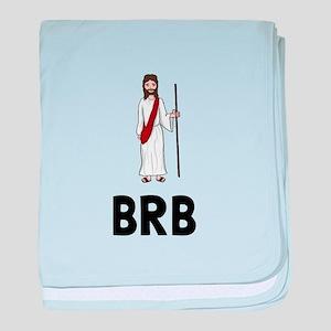Jesus BRB baby blanket