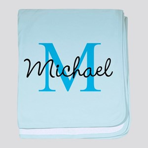 Personalize Iniital, and name baby blanket