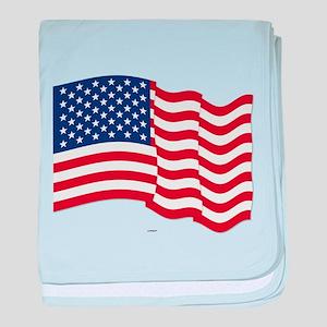 American Flag Waving baby blanket