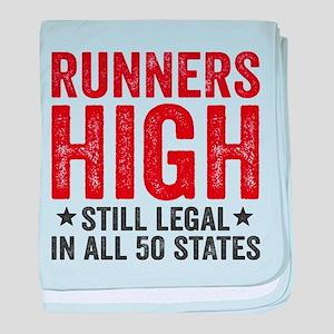Runner's High. Still Legal. baby blanket