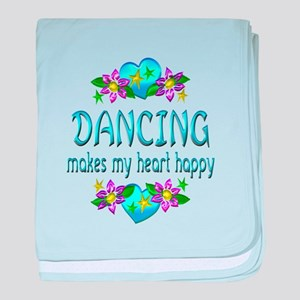 Dancing Heart Happy baby blanket