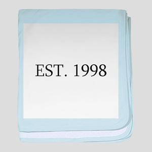 Est 1998 baby blanket