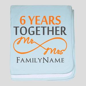 6th anniversary baby blanket