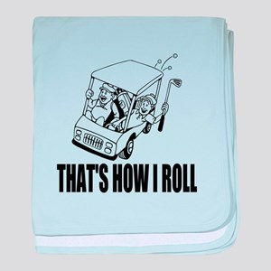 Funny Golf Quote baby blanket