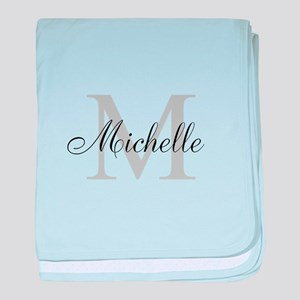 Personalized Monogram Name baby blanket