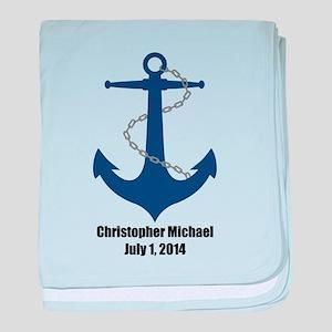 Anchor (blue) Baby Blanket