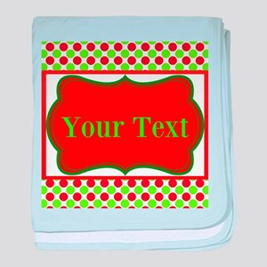 Personalizable Red and Green Polka Dots baby blank