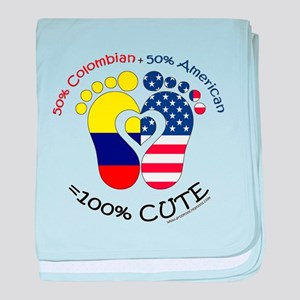 Colombian American Baby baby blanket
