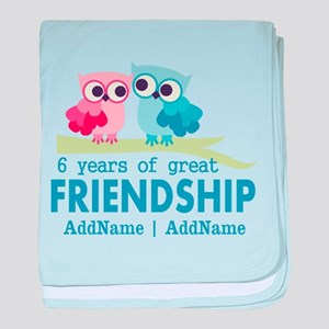 6th Anniversary Couple Gift Personali baby blanket
