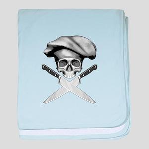 Chef skull: v2 baby blanket