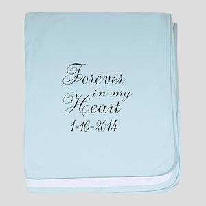 Forever in my Heart baby blanket
