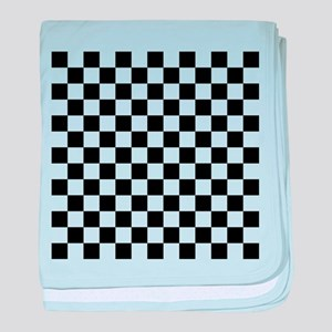 BLACK AND WHITE Checkered Pattern baby blanket