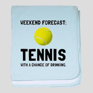 Weekend Forecast Tennis baby blanket