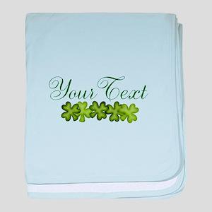 Personalizable Shamrocks baby blanket