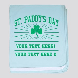 St Paddy's day [editable] baby blanket