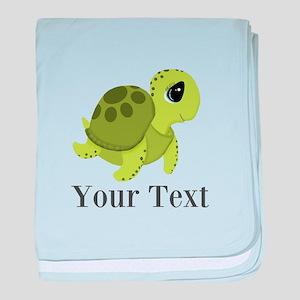 Personalizable Sea Turtle baby blanket