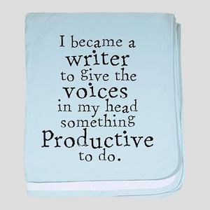 Something Productive baby blanket