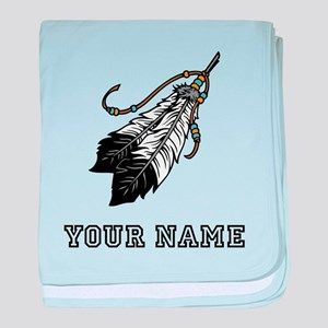 Native American Feathers (Custom) baby blanket