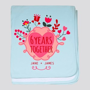 Personalized 6th Anniversary baby blanket
