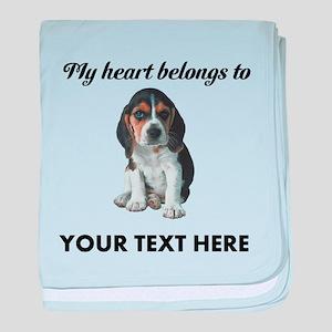 Personalized Beagle Custom baby blanket